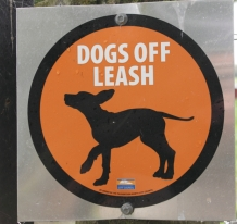 """Dogs Off Leash"" means you can have your dog off the leash but it must be under continous control at all times."
